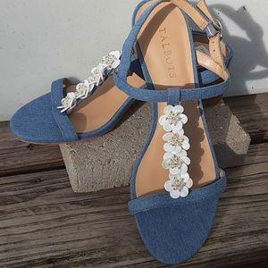 Talbots Light Denim Sandals